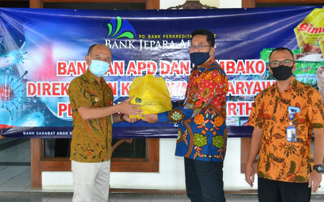 Bantu Penanganan Corona, PD BPR Bank Jepara Artha Salurkan Bantuan