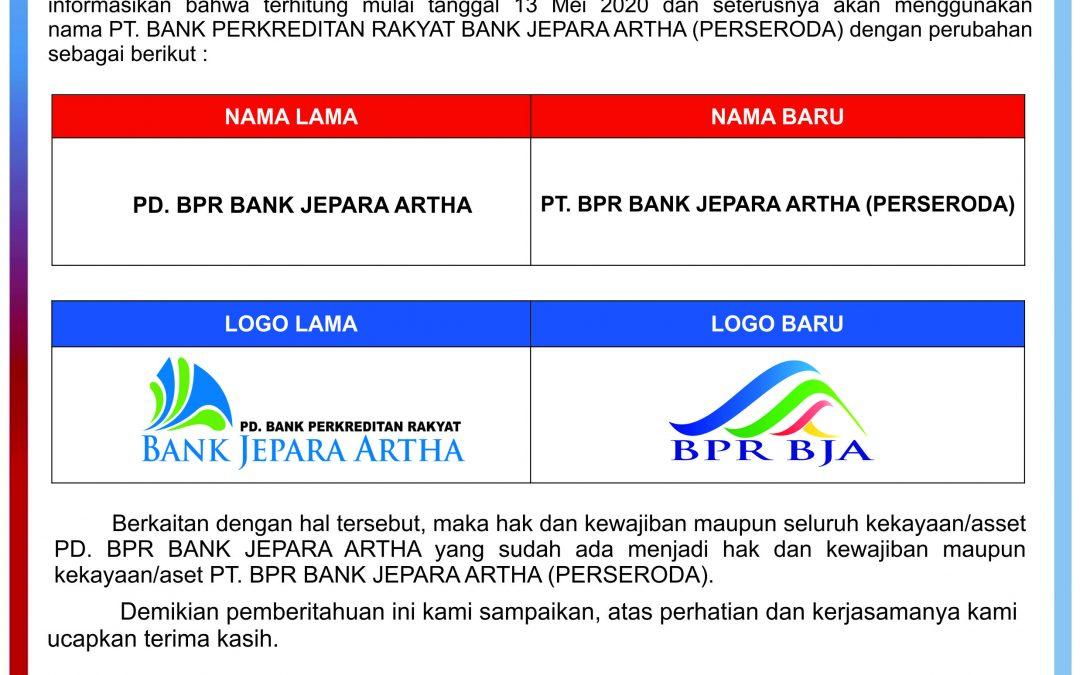 Perubahan Logo PT. BPR Bank Jepara Artha